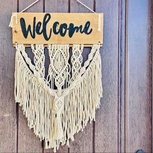 NEW 🤍 Macrame Door Sign / Wreath